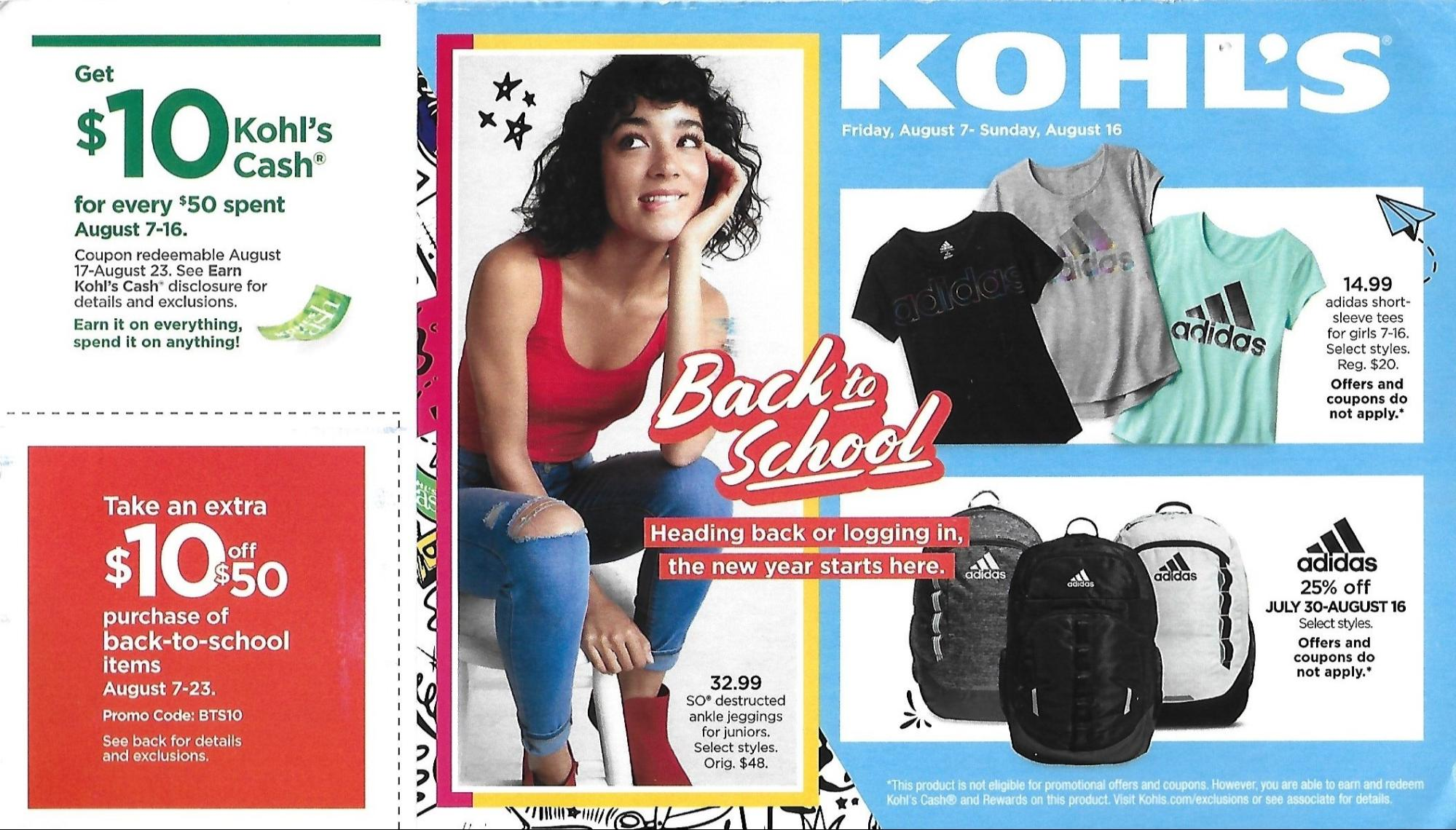 kohl's back to school direct mail marketing trends