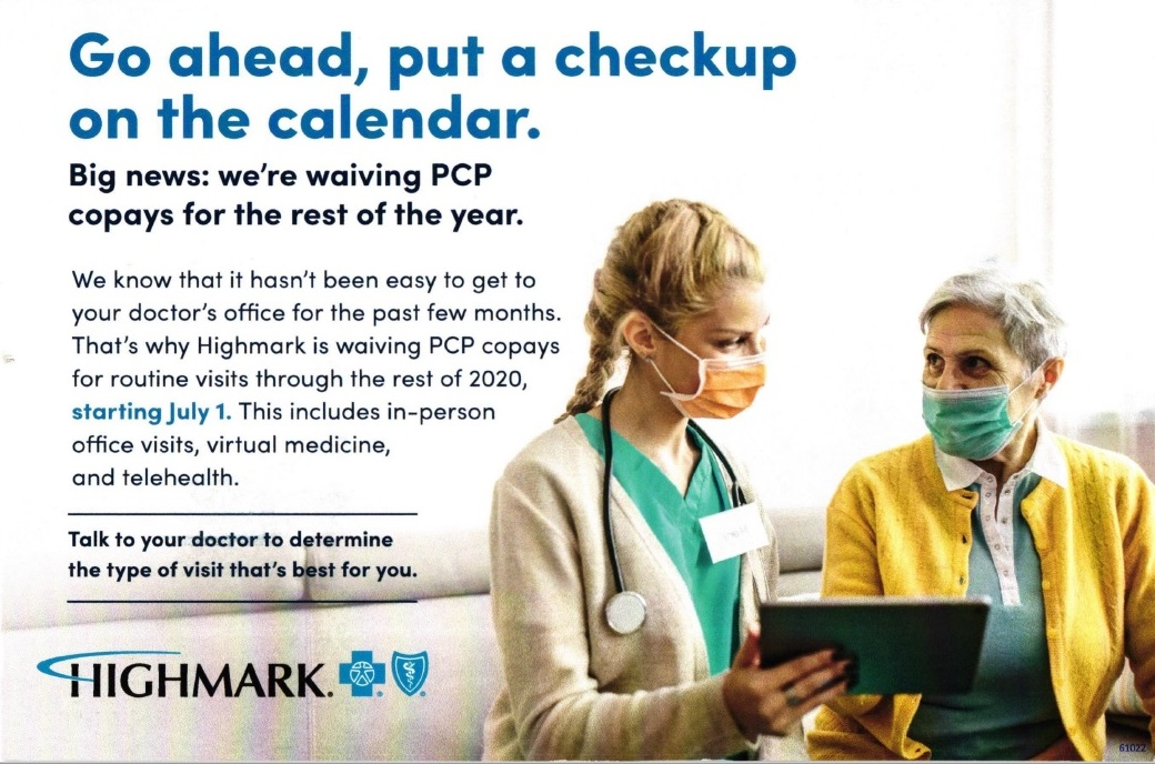 Highmark insurance mail piece
